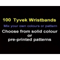 100 x Tyvek Wristbands