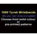 1000 x Tyvek Wristbands