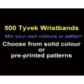 500 x Tyvek Wristbands