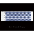 100 x Blue Checker Tyvek Wristbands