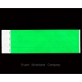 100 x Neon Green Tyvek Wristbands