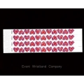 100 x Love Hearts Tyvek Wristbands