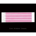 100 x Pink Checker Tyvek Wristbands
