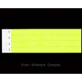 100 x Neon Yellow Tyvek Wristbands